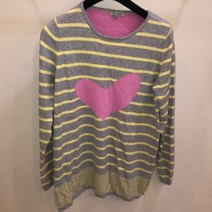 Lisa Todd heart sweater size Small